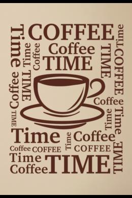 Kávéscsésze falmatrica - Coffee time felirat falra