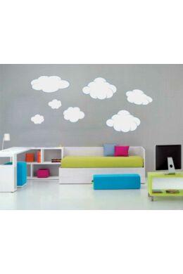 Felhő falmatrica csomag gyerekszobába kék-szürke