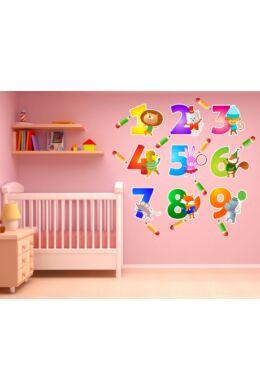 Játékos tanulás számokkal gyerekszoba falmatrica