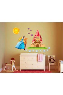 Lányos falmatrica - Hercegnő mesebeli várral