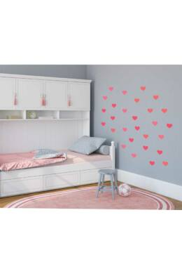 Rózsaszín szívek falmatrica csomag lányoknak