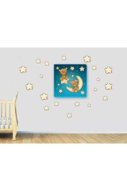 Macik csillagokkal gyerekszoba dekoráció csomag