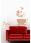 coffee felirat kávéscsészével