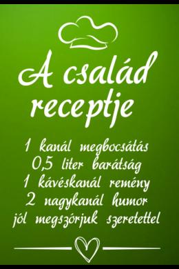 A család receptje - feliratos faltetoválás