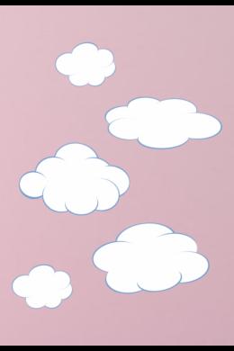 Fehér bárányfelhők falmatrica csomag gyerekszobába