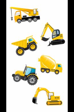 Munkagépek traktorral falmatrica fiúknak