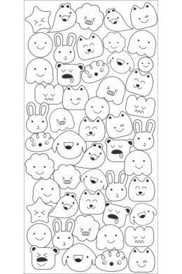 Cukiságok - színezhető falmatrica gyerekeknek - 32x65 cm