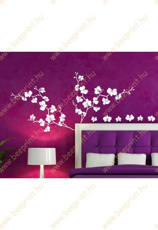 virágos faltetoválás, orchidea falmatrica