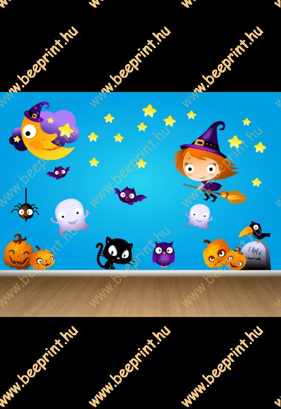 falmatrica gyerekszobába – halloween