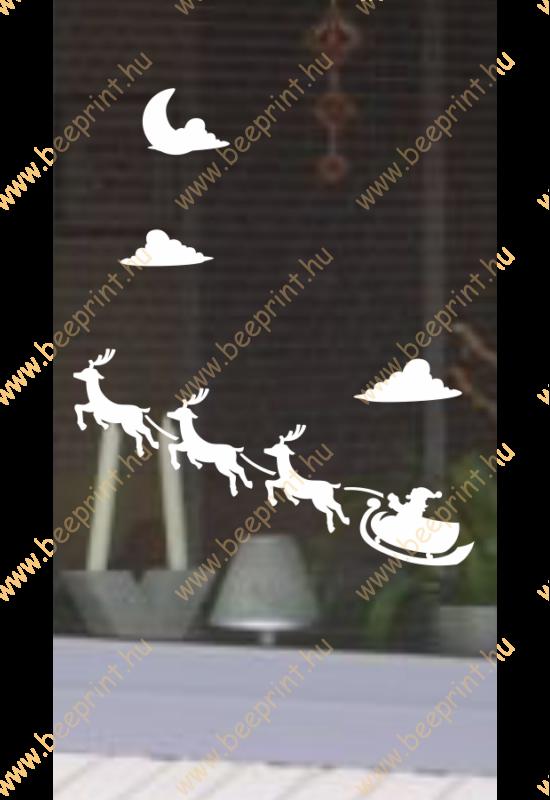 karácsonyi ablakmatrica